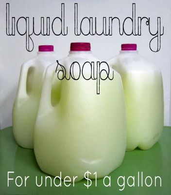 Make Your Own All Natural Liquid Laundry Detergent For $1 A Gallon {Tested Proven} and Great money saver. #diy, #homemade, #detergent