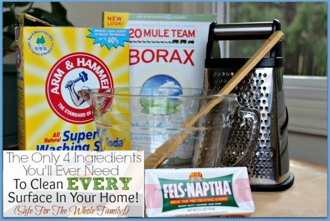 Make the Best Laundry Detergent with the only 4 Ingredients You will Ever need to clean every surface in your Home{Safe For The Whole Family}