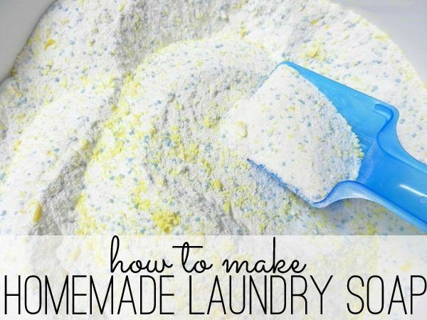 Homemade Laundry detergent: so easy to make and it works perfectly! Great money saver.
